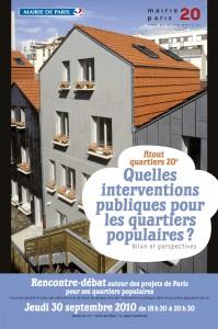 Paris 20e Affiche Atout Quartiers