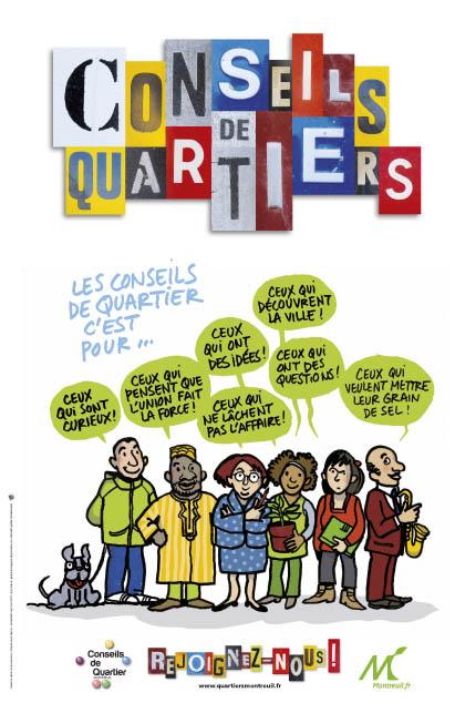 Montreuil Affiche Conseils Quartiers